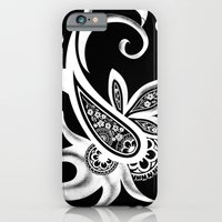 Paisley: Black And White iPhone 6 Slim Case