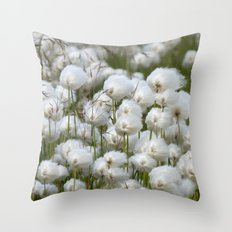 Cotton grass Throw Pillow