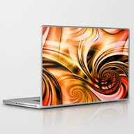 Curls Deluxe Orange Laptop & iPad Skin