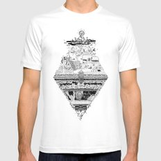 Olympe | Enfer Mens Fitted Tee SMALL White