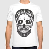 Calavera Mens Fitted Tee White SMALL
