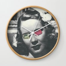 Psychedelic glasses II Wall Clock