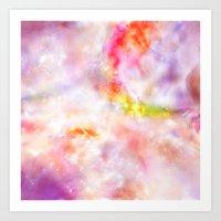 Abstract Magenta Cosmos Art Print