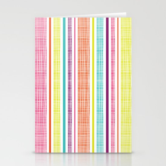 Textured Stripes Stationery Card