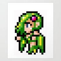 Final Fantasy II - Rydia Art Print