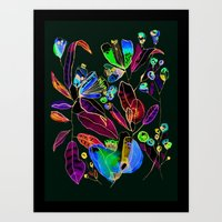 Flowers in the Wind Art Print