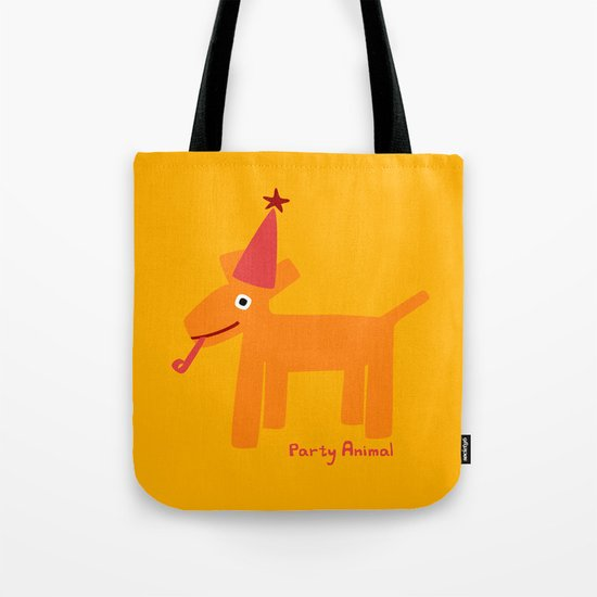 Party Animal-Orange Tote Bag