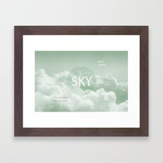 Sky behind the Clouds Framed Art Print