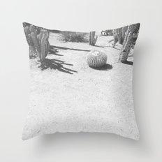 Cacti - in Black & White Throw Pillow