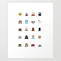 Indie Game Pixels Art Print