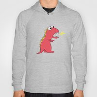 Cute Cartoon Dinosaur With Fire Breath Hoody