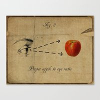Apple to Eye Canvas Print