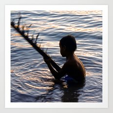 THAILAND - Koh Pangan | Travel | Sea | Children | Nature | Ocean | Dusk | Summer | Photography  Art Print
