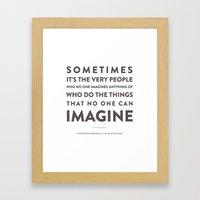 Imagine - Quotable Serie… Framed Art Print