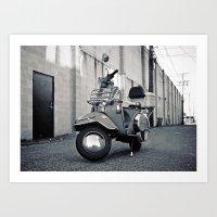 Alleyway Vespa Art Print