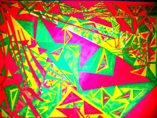 3 Triangulating Art Print