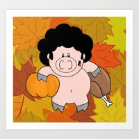 It's Fall, Give Thanks! Art Print