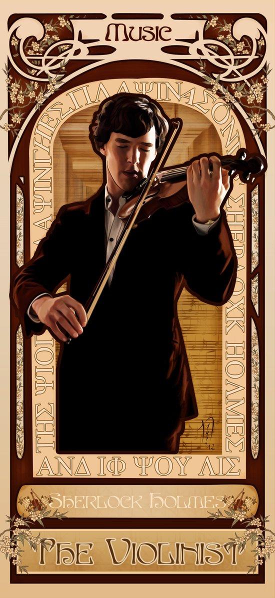 Art Nouveau: The Violinist Art Print