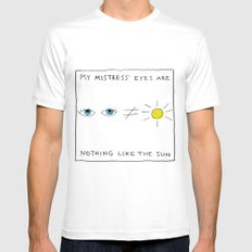 My mistress' eyes are nothing like the sun comic Mens Fitted Tee White SMALL
