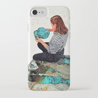turquoise iPhone & iPod Cases featuring TURQUOISE by Beth Hoeckel