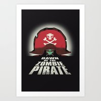 Dawn of the Zombie Pirate Art Print