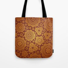 Warm Gold Paisley Pattern Tote Bag