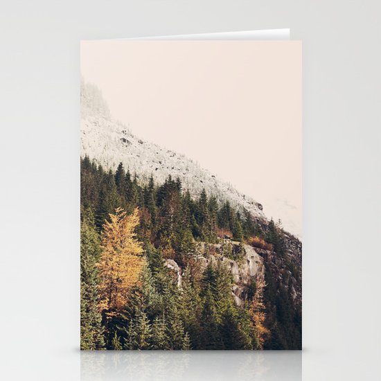 Winter Mountain Morning Stationery Card