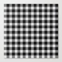 Sleepy Black And White P… Canvas Print