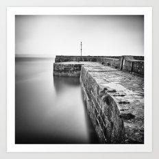 Empty harbour Art Print