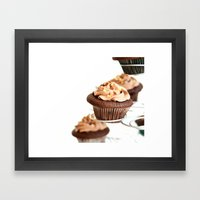 nutella cup cake Framed Art Print
