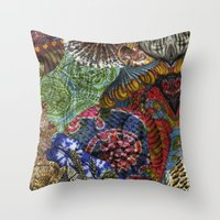 Psychedelic Botanical 3 Throw Pillow