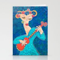 Red Guitar Stationery Cards
