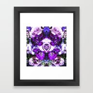 Purple Pink Flowers Framed Art Print