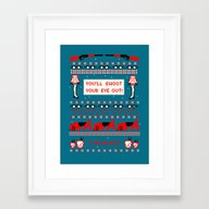 A Christmas Sweater (Blu… Framed Art Print
