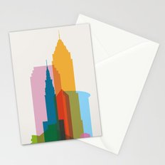 Shapes of Cleveland accurate to scale Stationery Cards