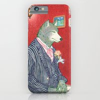 iPhone & iPod Case featuring Everyday Animals - Mr Wolf gets ready for his wedding by Aiko Tagawa