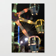 Seaside Boardwalk Lights Canvas Print