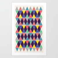 Triangles & Lines Art Print