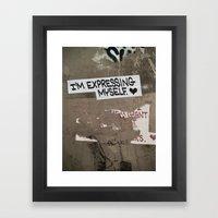i'm expressing myself Framed Art Print