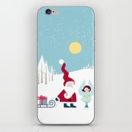 Santa And The Little Ang… iPhone & iPod Skin