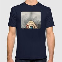 a great big wave (to wash it all away) - collab with sammy slabbinck Mens Fitted Tee Navy SMALL