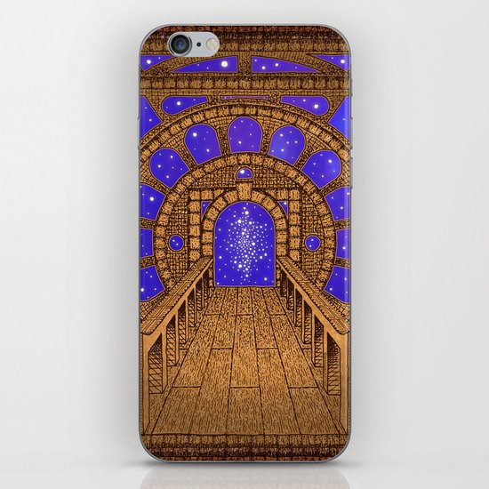 orvio illuminated space mandala iPhone & iPod Skin