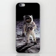Buzz Aldrin On The Moon iPhone & iPod Skin
