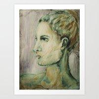 Lucy Mixed Media Portrai… Art Print