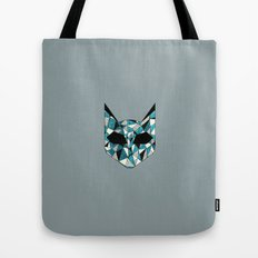 Turquoise Cat Tote Bag