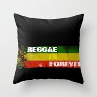 Reggae Is Forever II Throw Pillow