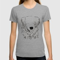 dog Womens Fitted Tee Athletic Grey SMALL