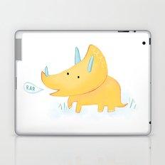 Yellow Triceratops Dinosaur Laptop & iPad Skin