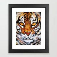 Wildlife Painting Series 4 - Bengal Tiger Framed Art Print