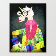 Iris The Unicorn Of Fash… Canvas Print